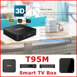 Wholesale T95M Amlogic S905 TV Box media player Google Android GB GB Android Internet TV Streaming Boxes Installed XBMC Free TV Apps VS X96 MXQ