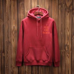 Wholesale 2016 I Feel Like Pablo Hoody Plus velvet Hip Hop Hoodies Kanye West Hooded Sweatshirts Men Lovers Streetwear M XXL