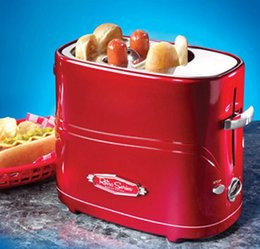 Wholesale Nostalgia Electrics Retro Series Pop Up Hot Dog Toaster Bun Toaster HDT600RETRORED fast fun and convenient way to enjoy hot dogs
