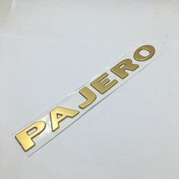 1 Pcs 3D PAJERO ABS Car Emblem Badge Body Side Logo Car Stickers Decal For Mitsubishi