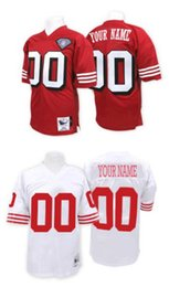 Wholesale 2016 SF ers Personality Men s Throwback Custom Home Away Football Jerseys YOUNG RICE Professional High Quality Stitched Wear