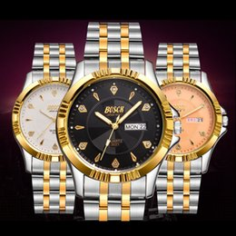 Fashion Goldsmith Steel Crystal Waterproof Business for Man Luxury Brand Quartz Casual Man Sport Calender Wrist Watch