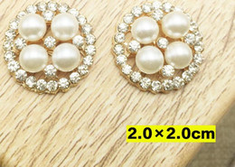 Fashion rhinestone brooch with pearls adorned DIY hair accessories brooch pin material jewelry accessories 12pcs lot MYQB081