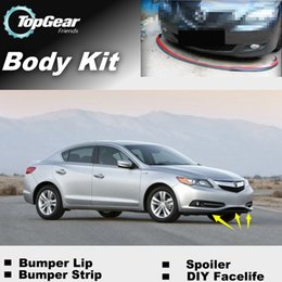 Wholesale Bumper Lip Lips For Acura ILX Front Skirt Deflector Spoiler For Car Tuning The Stig Recommend Body Kit Strip