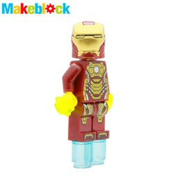 Wholesale Iron Man Tony Stark Mark War Machine SUPER HEROES The Avengers TMNT STAR WARS Minifigures Assemble Building Blocks Kids Toy