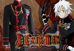 Wholesale Japanese Anime D Gray man cosplay Allen Walker Costume Uniform for Adults Top pants Belt per set
