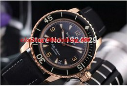 Wholesale Luxury Men Watch New Brand Fifty Fathoms Fathoms Rose Gold Case Automatic Gents Watch Best Wristwatches