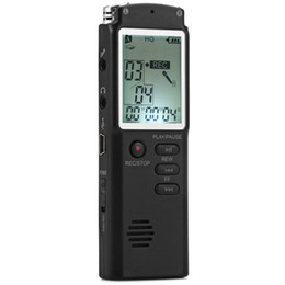 Wholesale Rechargeable Digital Voice Recorder GB LCD Display Line in Telephone Recorder Portable Audio Recorder Dictaphone Pen with MP3 Player