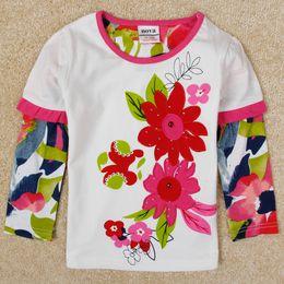 Wholesale Casual Check Shirt Girl - Girls Shirt Kids Clothing Fashion Checked T-Shirts Kid Girls Long Sleeve Tops T-Shirt Button Down Print Blouse Korean Children Clothing