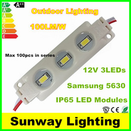 Wholesale SAMSUNG SMD LED Modules LED W IP65 Waterproof Led Module light outdoor Lightbox Lighting warm cool white CE RoHS DC12V