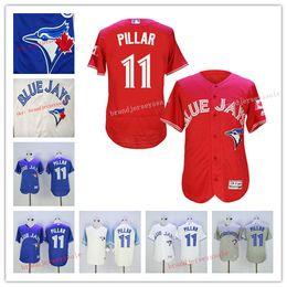 Wholesale Men Toronto blue jays jersey Kevin Pillar Jerseys Blue White Grey Cheap Baseball Jerseys mlb jersey blue jays jersey Embroidery Logo