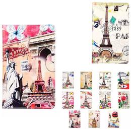 Wholesale Retro Paris Eiffel Tower Flower London Big Ben Car Skin Flip leather Stand cover case For Ipad Air Air2 Pro