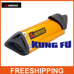 Wholesale Scooter Modified - Modified akrapovic Exhaust escape moto silencer 100cc 125cc 150cc gy6 scooter motorcycle cbr jog rsz dirt pit bike accessories