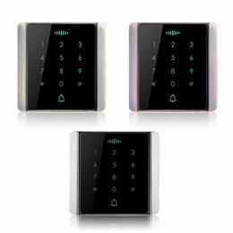 Wholesale 86 Button Box Access Controller Password Touch Keypad Metal Case KHz Proximity Card For Door Security F1271