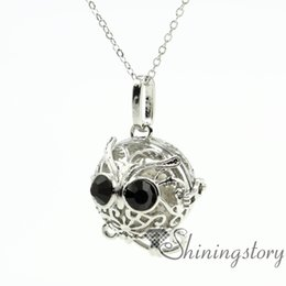 owl aromatherapy necklace perfume lockets wholesale wholesale lockets diffuser pendant necklaces metal volcanic stone necklaces pendants