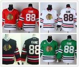 Wholesale 2017 Cheap Youth Chicago Blackhawk Patrick Kane Green Black Red White Kids Blackhawks Nhl Ice Hockey Boys Stitched Jerseys