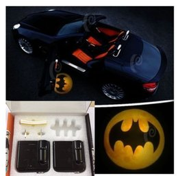 Wholesale batman yellow Wireless Car LED door Welcome Projector Logo ghost shadow light ALL Car