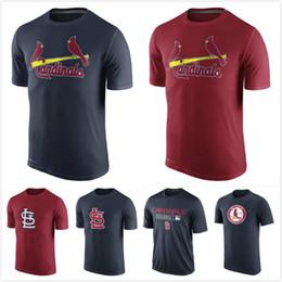 Wholesale St Louis Cardinals Authentic Collection Legend Logo Performance mens short sleeve sports T Shirt Men s Clothing TShirt Size S XL