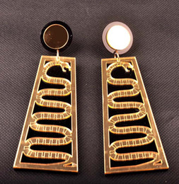 Gold Acrylic Big Long Snake Earrings For Women Hip Hop European Fashion Personality Club Jewelry Accessories Wholesale