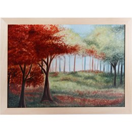 Wholesale Classical Brand Porcelain Wall Paintings Landscape painting Series Beautiful Garden Hand painted Framed Ready to hang Art x32 inches