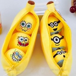 Wholesale cm Plush Banana Within Kawaii D Minions Cute Spongebob Lovely Emoji Expression Baby Toys ML0216