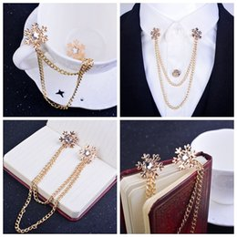 Snowflake broocch Five-pointed star brooch Shirt collar pin Exclusive trinkets Factory outlets Collar Chain alloy Unisex