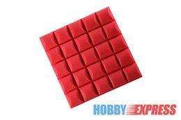 Wholesale New Black and Red Bundle Hemisphere Grid Acoustic Panel Sound Absorption Soundproof Foam x20x5cm or x50x5cm KK1040