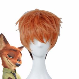 Wholesale-Zootopia Nick Wilde Wig Straight Cosplay Costume Dresses Anime Anthropomorphism Pops