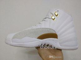 Retro 12 Basketball Shoes Sneakers Men Women Taxi Playoffs Gamma Blue Grey Sports Real Cheap Retro 12 XII