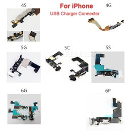 Wholesale For iPhone S C S Charger Charging Port Dock USB Connector Data Flex Cable Ribbon Replacement Parts Black or White DHL Free