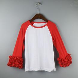 ruffles icing shirts Chirstmas T-shirts girl t shirts fashion shirt dress