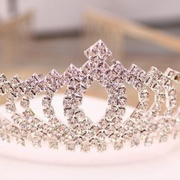 Wholesale W001 Sparkle Beaded Crystals Wedding Crowns Bridal Crystal Veil Tiara Crown Headband Hair Accessories Party Wedding Tiara a set