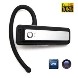 Descuento bluetooth auriculares cámara espía 32GB Nuevo H.264 1080p mini espía cámara Fake auricular Bluetooth auricular en forma de Hd ocultado Dvr portátil videocámara