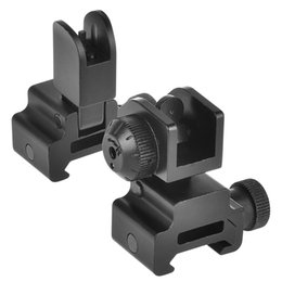 MTS4015--Aluminum CNC Processing Matte Black Finished AR 15 M16 Flip Up Front and Rear Iron Sight Combo Set