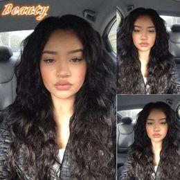 Célébrités de couleur naturelle des cheveux en Ligne-Brésilienne Cheveux Virgin Fasion Loose Wave Longue ondulée Perruques Cheveux Celebrity Style Cheveux Pleine Lace Frontal Couleur naturelle