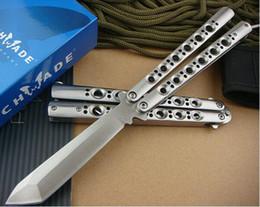 Wholesale 10 models benchmade balisong BM41 BM42 BM43 BM46 BM47 BM49 adjustable jilt Free swinging folding camping SPRING LATCH knife