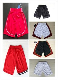 Wholesale Cheap Mens Retro Basketball Shorts For Wade Bosh In Red Black White Hot Sale
