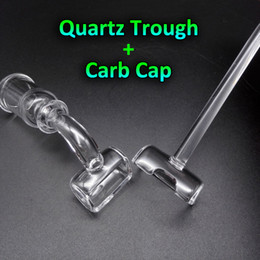 Wholesale 2016 New Quartz Trough And Cap Quartz Banger Nail Carb Cap Female Male mm mm mm Degrees Quartz Bangers Nails