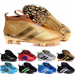 2016 Newest Ace 16+ Purecontrol Cheap Original Soccer Cleats Men's Soccer Shoes FG AG Waterproof High Quality Football Sneakers Size 39-45