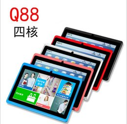 Wholesale Q88 inch quad coreCPU tablet HD AllwinnerA33 clocked at GHz M G Tablet Android Bluetooth