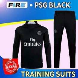 Wholesale New PSG Maillot de foot tracksuits survetement football shirts long sleeves tight pants sportswear PSG training suit soccer Uniforms