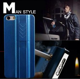 Wholesale USB Lighter Cell Phone Hard Case Fire Smoking Cigarette Luxury Mobile Cover A bottle opener Case for iPhone S PLUS