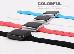 Logos sim en Ligne-Smartwatch A01 Bluetooth Smart Watch Pour Android IOS Téléphone Support SIM TF Carte SMS 0.3M Camera MP3 livraison gratuite Imprimer le logo