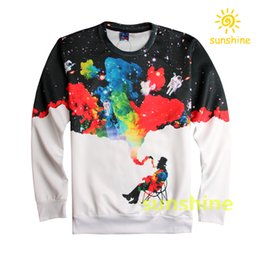 Wholesale 2016 August new arrival fashion D print hoodies Unisex womens mens cool sweatshirts sizes inc bargain price
