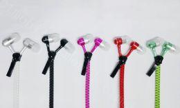 Zip in-ear 3.5mm earphone with mic metal buds zipper headset headphone for iphone 6 plus Samsung s6 s7 J5 best price