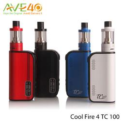 Original Innokin Coolfire IV TC 100 starter Kit With Cool Fire 4 TC100 3300mah TC 100w Mod Aethon Chipset ISub V Tank