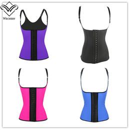 Wholesale 100 Latex Waist Cincher Corset with Adjustable Straps Black Underbust Corsets Girdle Body Shapewear Strong Compression Waist Trainer Vest