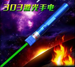 Wholesale Led Power Cans - 2016 The latest 50000m green laser pointer high power 532nm led flashlight focusable can burn match,burn cigarettes,pop balloon SD Laser 303