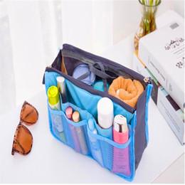 Women Beach Travel Insert Handbag Purse Dual Insert Multi-function Handbag Makeup Bag Pocket Bag Organizer Washing Bag Cosmetic Handbag