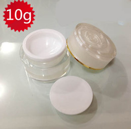 10ml PERAL WHITE acrylic cosmetic container cream jar with flower lid ,10g Cosmetic Jar,10ml Cosmetic Packaging container